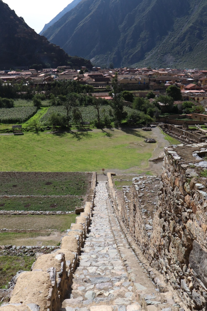 Ollantaytambo ruins and a view of the town
