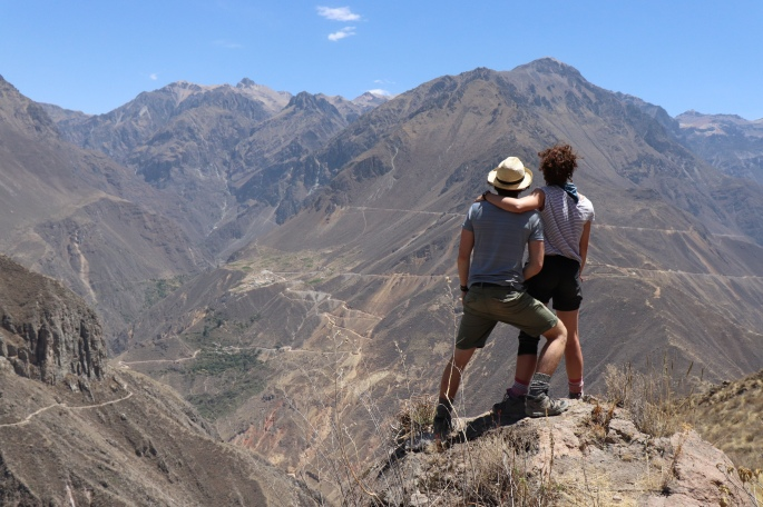 Daisy and Ian on top of Colca