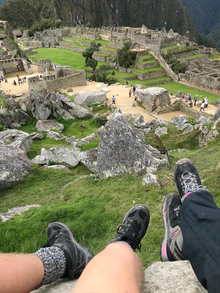 Snacking at Machu Picchu