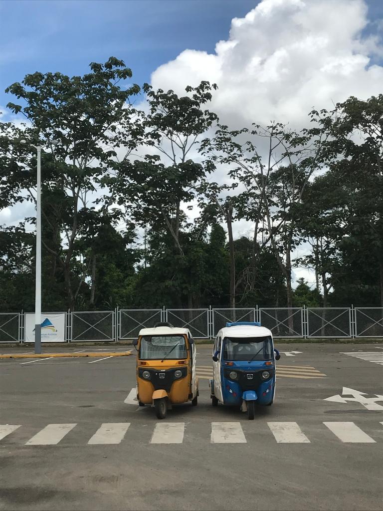 Tuk-tuks at Puerto Maldonado Airport